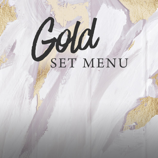 Gold set menu at The Inn On The Lake