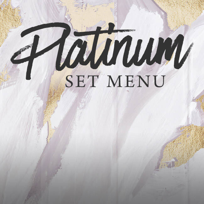 Platinum set menu at The Inn On The Lake