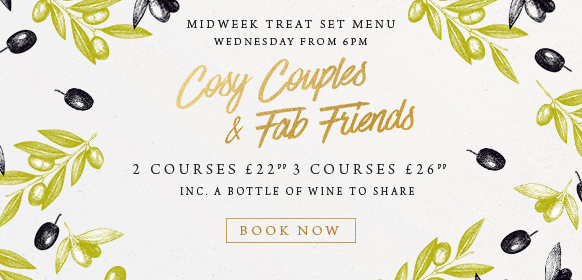 Midweek treat set menu at The Inn On The Lake